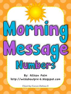 Free themed numbers to use on your morning message boards