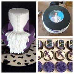 Once Upon a Time In a Land Called Fantasy. I don't like the symbols but that can be fixed Prince Birthday Theme, 50th Birthday Party, Birthday Party Decorations, Birthday Cake, Prince Cake, Prince Party, Baby Prince, Purple Party, Purple Wedding
