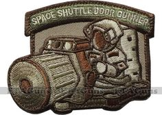 MilSpec SHUTTLE DOOR GUNNER Arid USA Tactical Military Combat Army Morale Patch