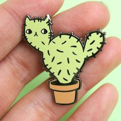 Catcus Enamel Pin