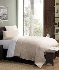 This Taupe Metro Quilt Set is perfect! #zulilyfinds