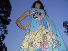 Snow White Sundress Animals Disney Vacation Sundress Hippie Geek Dopey Sundress Adult Hi Low Dress XL XXL PLUS