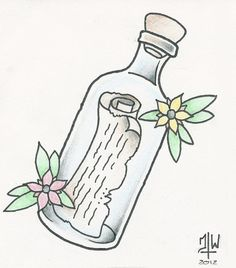 Message In A Bottle by ~TheRestlessSoul on deviantART