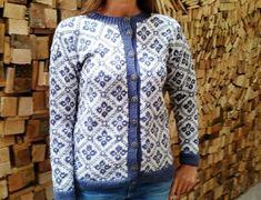 Bilderesultat for blå og hvit kofte Sweaters, Fashion, Moda, Fashion Styles, Sweater, Fashion Illustrations, Sweatshirts, Pullover Sweaters, Pullover