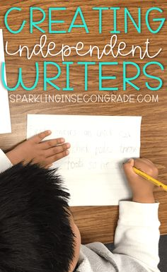 """Tired of hearing, """"WHAT DO I WRITE?"""" after great writing lesson? Here's a fun writing tip for independent writers in kindergarten or first grade. Writing Lessons, Writing Resources, Writing Skills, Writing Activities, Writing Tips, Teaching Resources, Grammar Activities, Teaching Materials, Writing Prompts"""