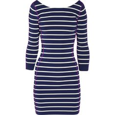Sonia by Sonia Rykiel Striped ribbed-knit dress ($170) ❤ liked on Polyvore