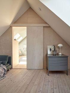 Tour a Stylish and Bright Scandinavian Island Getaway - Nordic Design Plywood Interior, Plywood Furniture, Modern Furniture, Furniture Design, Swedish House, Nordic Interior, Nordic Design, Design Design, Scandinavian Home