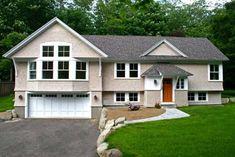 Craftsman style modular homes craftsman elevation for Split foyer modular homes