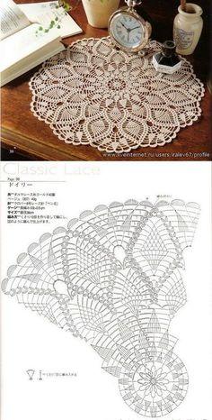 Baby braids newest knitting patterns – Part 2 Free Crochet Doily Patterns, Crochet Doily Diagram, Crochet Circles, Crochet Motifs, Thread Crochet, Filet Crochet, Knitting Patterns, Crochet Carpet, Crochet Home