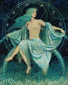 Asteria  Goddess of the Stars Greek Mythology 8x10 by EmilyBalivet, $15.00