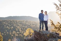 adventurous evergreen engagement photography