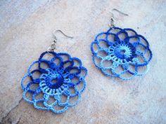 Brinco de Crochê Mandala Renda / Earrings Crochet Lace Mandala