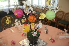 manzanita summer wedding centerpiece