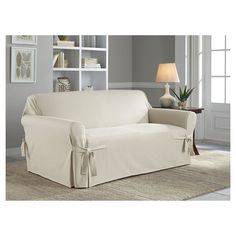 Serta Relaxed Fit Duck Furniture Slipcover Loveseat