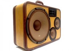 Boom Box made from a vintage suit case