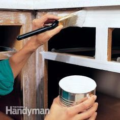 Home Improvement DIY Home Improvements- this whole website is freakin awesome! pin now read later!DIY Home Improvements- this whole website is freakin awesome! pin now read later! Diy Kitchen Cabinets, Painting Kitchen Cabinets, Kitchen Paint, Kitchen Redo, Wooden Cabinets, Bathroom Cabinets, Paint Bathroom, Kitchen Modern, Kitchen Living