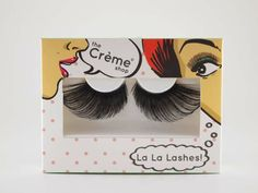 Have some fun with your La La Lashes. Fun, fierce designs and easy to use. #thecremeshop #eyelashes #fauxlashes #beauty #fierce #makeup #newyearsparty