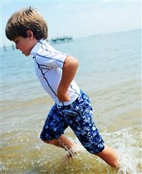 UPF 50+ White Soda Boys Green Blue /& White Swim Nappy Swimwear