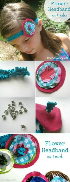 No sewing is required for this easy project! Transform a few pieces of scrap fabric into an elastic headband in minutes. The Sewing Loft