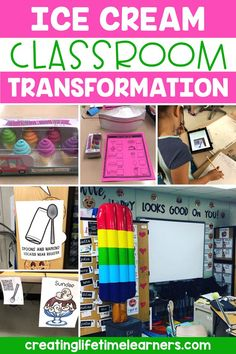 Check out this fun ice cream classroom transformation theme for elementary students in first, second, third, fourth, fifth grade. This ice cream shop room transformation will set the stage to engage and is stress-free! It's a worksheet or escape room alternative, and can be used in small groups or partners. 1st, 2nd, 3rd, 4th, 5th graders enjoy classroom transformation ideas. Digital and printables for kids (Year 1,2,3,4,5) #setthestagetoengage #classroomtransformation #mathactivities