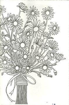 spring mason jar floral coloring