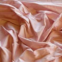 "Spanish Pink Dupioni Silk, 100% Silk Fabric, 44"" Wide, By The Yard (S-187)"