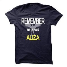 My name is Aliza - #blue shirt #green sweater. GET YOURS => https://www.sunfrog.com/Names/My-name-is-Aliza.html?68278