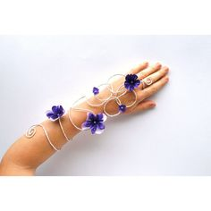 Silver and purple or any colour flower and vine by InMyFairyGarden ($27) via Polyvore