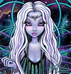 """New """"Delphi"""" signed prints of all sizes including canvas, aceo/atc collector cards & bookmarks now listed in my Etsy shop. Bratz, Fairies Photos, Pop Art Girl, Zombie Art, Fairytale Fantasies, Gothic Fairy, Science Fiction Art, Anime Fairy, Creepy Cute"""