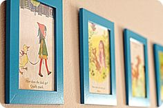 Or simply frame a few pages on the walls.