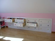 drawers in knee wall