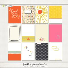 The Lilypad :: Journal Cards :: Freckles Journal Cards