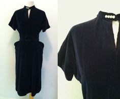 CRUSHED VELVET Dress / Westway Miss of Dallas / by iDeclareVintage, $48.00
