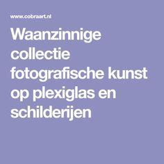 Waanzinnige collectie fotografische kunst op plexiglas en schilderijen