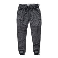Abercrombie & Fitch Moto Jogger Sweatpants ($17) ❤ liked on Polyvore featuring activewear, activewear pants, pants, bottoms, dark grey, sweat pants, jogger sweat pants, jogger sweatpants, abercrombie & fitch and cotton sweatpants