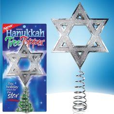 Hanukkah Tree Topper for those who celebrate both.