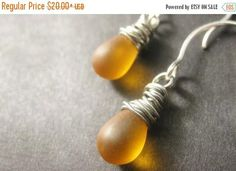 BACK to SCHOOL SALE Amber Teardrop Earrings: Wire Wrapped Earrings in Silver - Elixir of Nectar. Handmade Earrings. by Gilliauna from Bits n Beads by Gilliauna. Find it now at http://ift.tt/2b559qc!