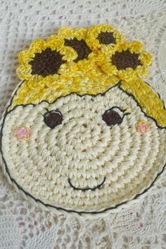 Hey, I found this really awesome Etsy listing at https://www.etsy.com/listing/275687514/sunflower-coaster-girl-with-sunflowers