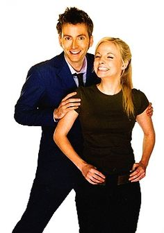 Mr. and Mrs. Tennant. When they first met. On Doctor Who! How cute is her smile?