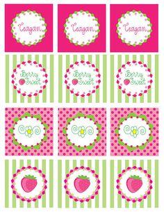 Strawberry Shortcake Printable Party Circles by whimsyllc on Etsy, $12.00