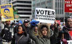 Voter suppression is Unamerican #VoteBlue http://www.dailykos.com/story/2014/10/12/1335429/-Voter-suppression-is-un-American…
