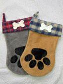 """Santa """"Paws"""" Stocking Pattern-dog stocking, dog Christmas stocking, dog stocking pattern, Christmas stocking pattern"""
