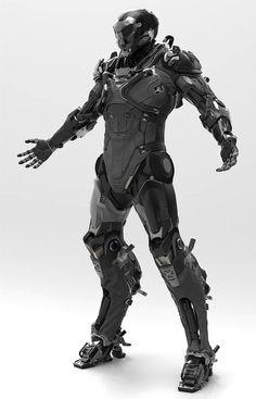 Photo Robot Concept Art, Concept Weapons, Armor Concept, Futuristic Armour, Futuristic Art, Cyberpunk Aesthetic, Cyberpunk Art, Armadura Sci Fi, Character Art