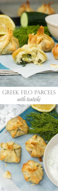 Greek filo parcels - cute little easy-to-make pastry parcels stuffed with…