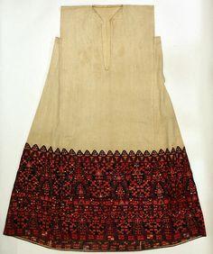 Dress   Greek   Date:19th century Culture:Greek Medium:cotton, silk