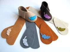 Baby Shoe KIT Wool Felt Moccasins DIY Sewing Kit от FeltOnTheFly