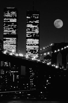 World Trade Towers with the Brooklyn Bridge in the foreground- beautiful shot