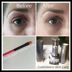 How to Apply Instantly Ageless with a Brush - Before and After pictures.