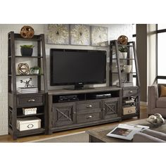 Shop for Heatherbrook Charcoal and Ash Entertainment Center. Get free shipping at Overstock.com - Your Online Furniture Outlet Store! Get 5% in rewards with Club O!
