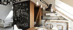 Intetior design apatment in the attic by nova.bara.